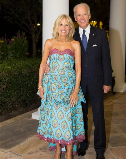 The story behind Jill Biden's wax print dress at last night's White House dinner
