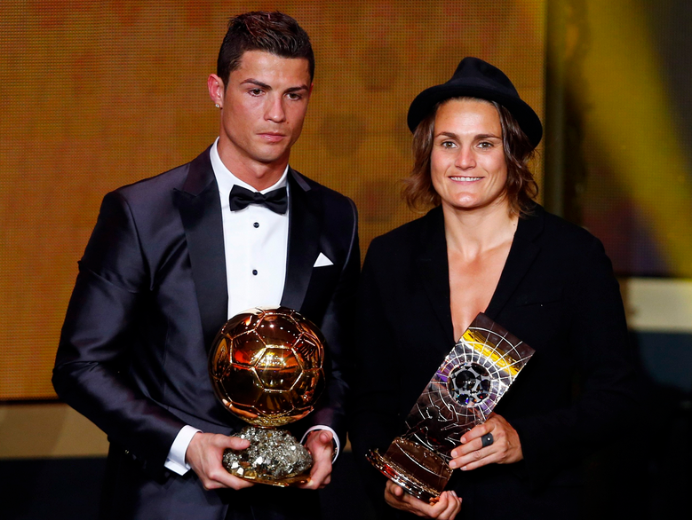 Never seen Cristiano Ronaldo look so miserable standing next to a woman